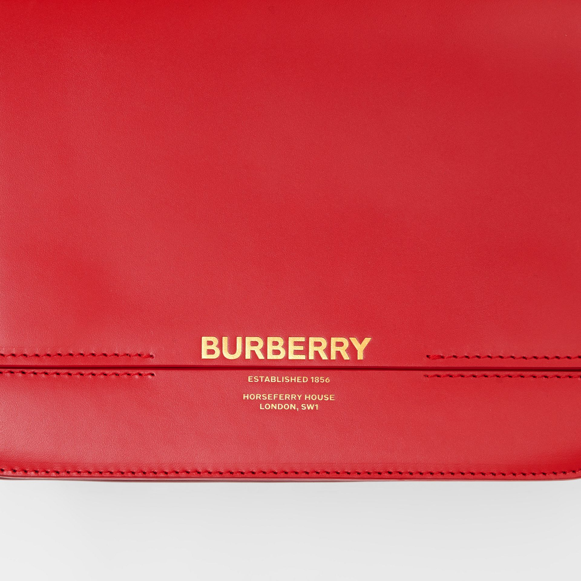Small Two-tone Leather Grace Bag in Bright Red/burgundy - Women | Burberry - gallery image 11