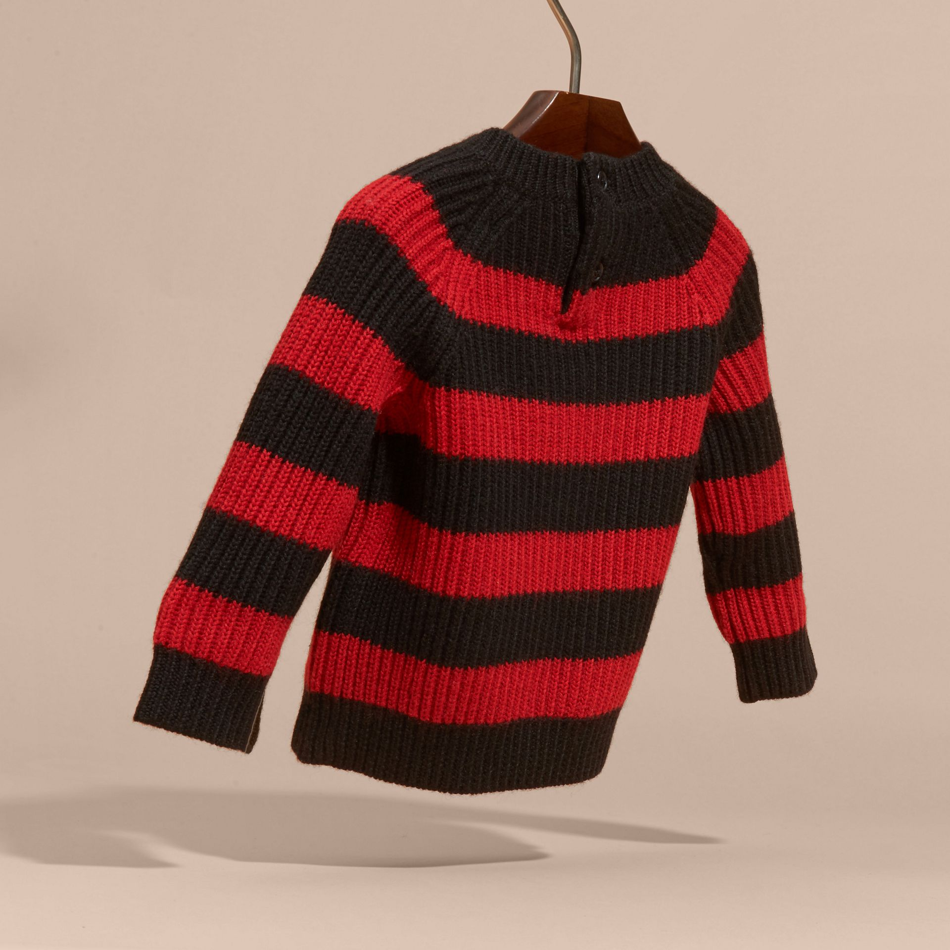 Parade red Striped Merino Wool Sweater - gallery image 4