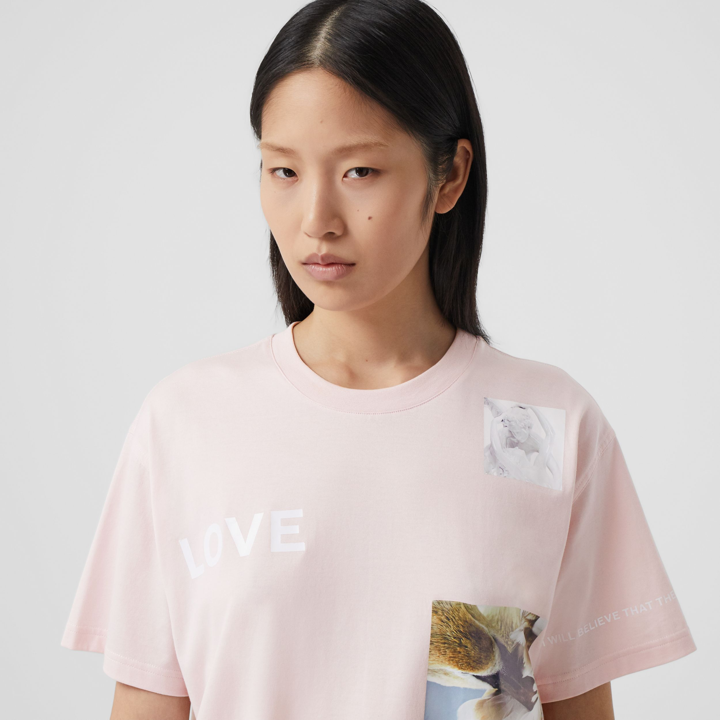 Montage Print Cotton Oversized T-shirt - Women | Burberry - 2