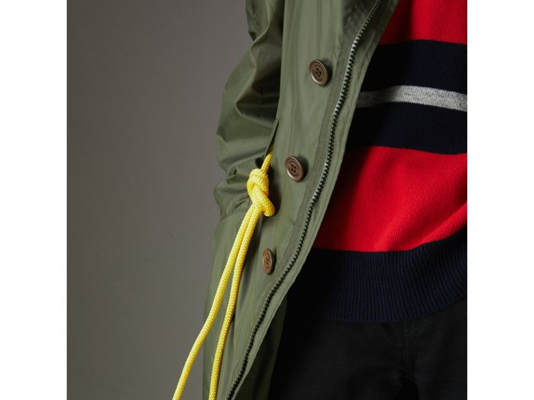 Oversized Technical Parka in Light Olive - Men | Burberry - cell image 4