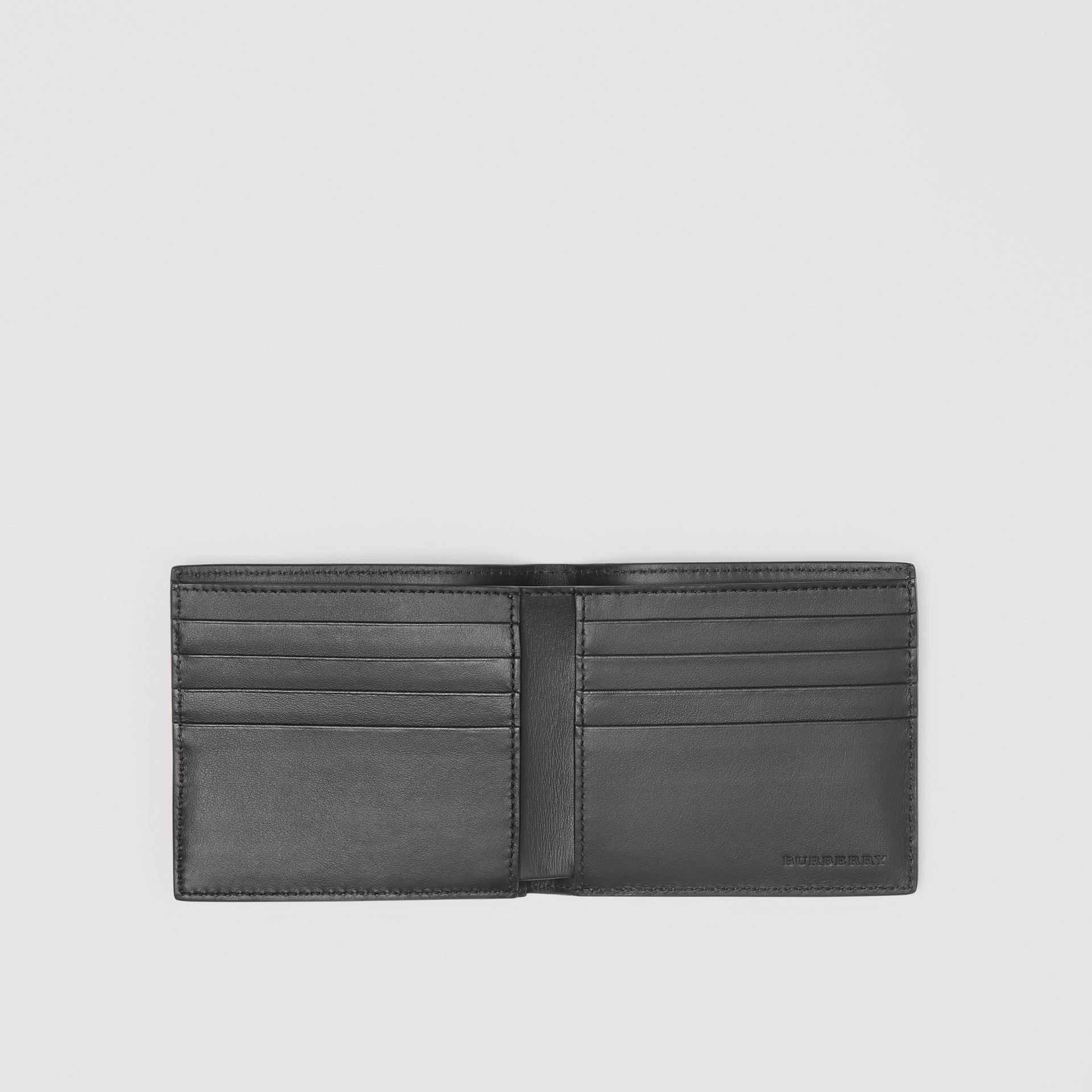 Contrast Logo Leather International Bifold Wallet in Rust Red/black - Men | Burberry Hong Kong - gallery image 2