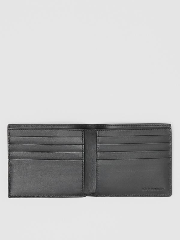 Contrast Logo Leather International Bifold Wallet in Rust Red/black - Men | Burberry - cell image 2
