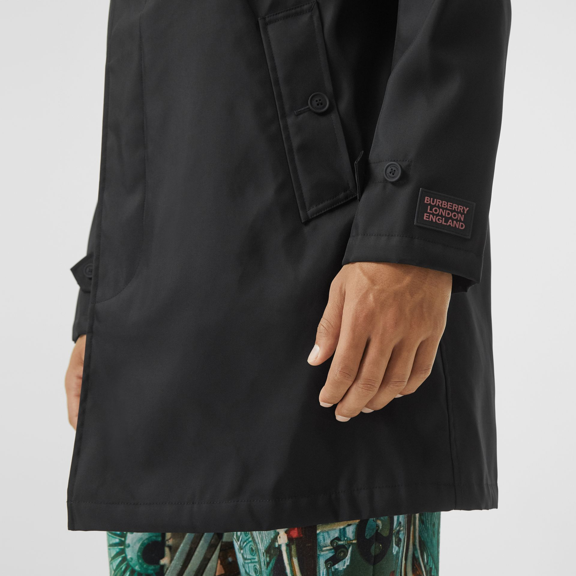 Nylon Car Coat with Detachable Hooded Warmer in Black - Men | Burberry United Kingdom - gallery image 4