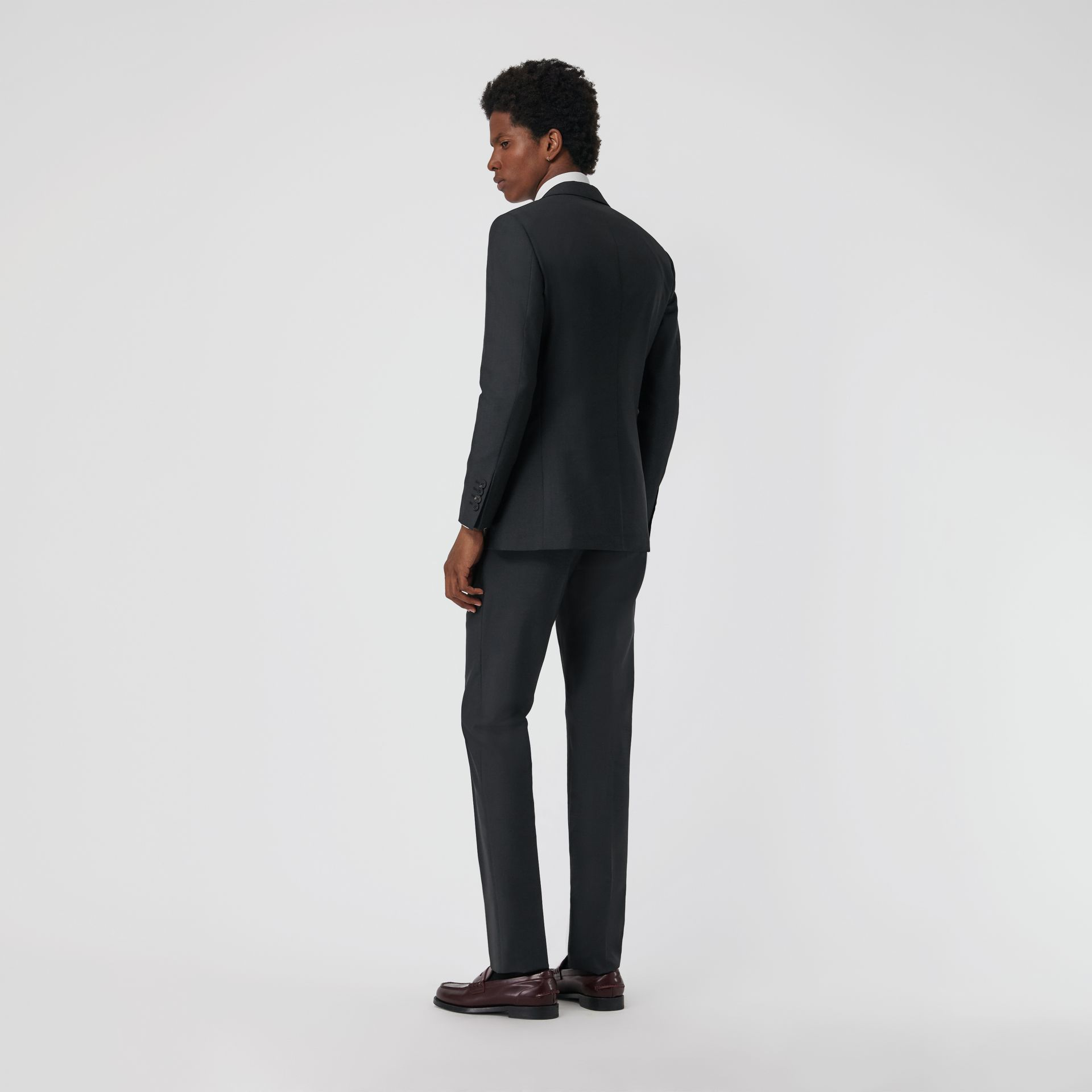 Soho Fit Wool Mohair Suit in Dark Grey Melange - Men | Burberry United Kingdom - gallery image 2