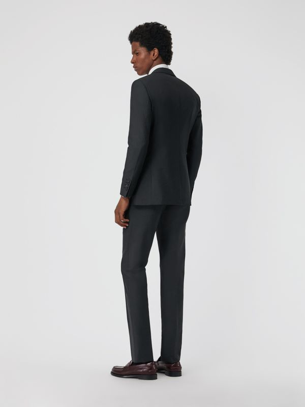 Soho Fit Wool Mohair Suit in Dark Grey Melange - Men | Burberry - cell image 2