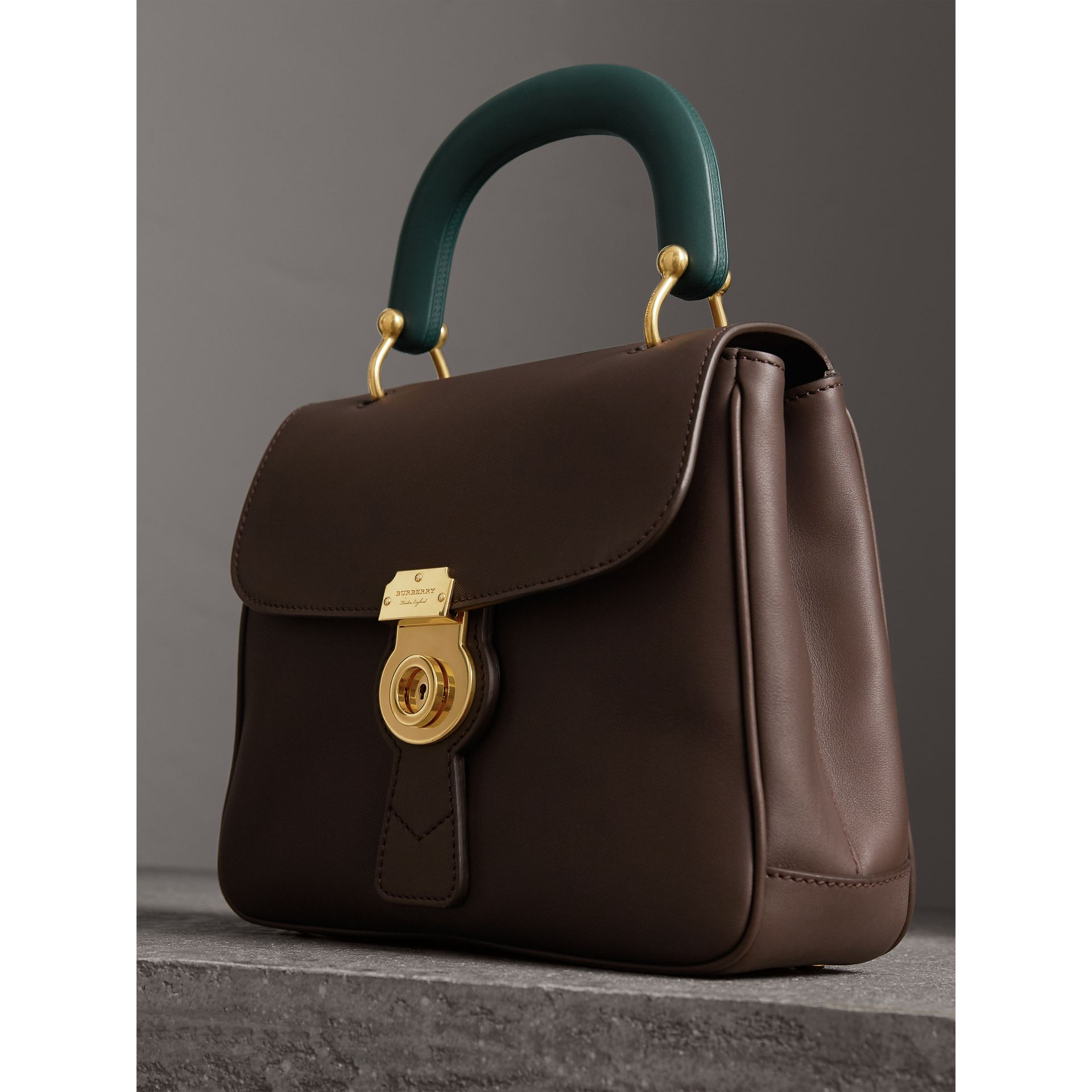 The Medium DK88 Top Handle Bag in Dark Chocolate - Women | Burberry Australia - gallery image 6