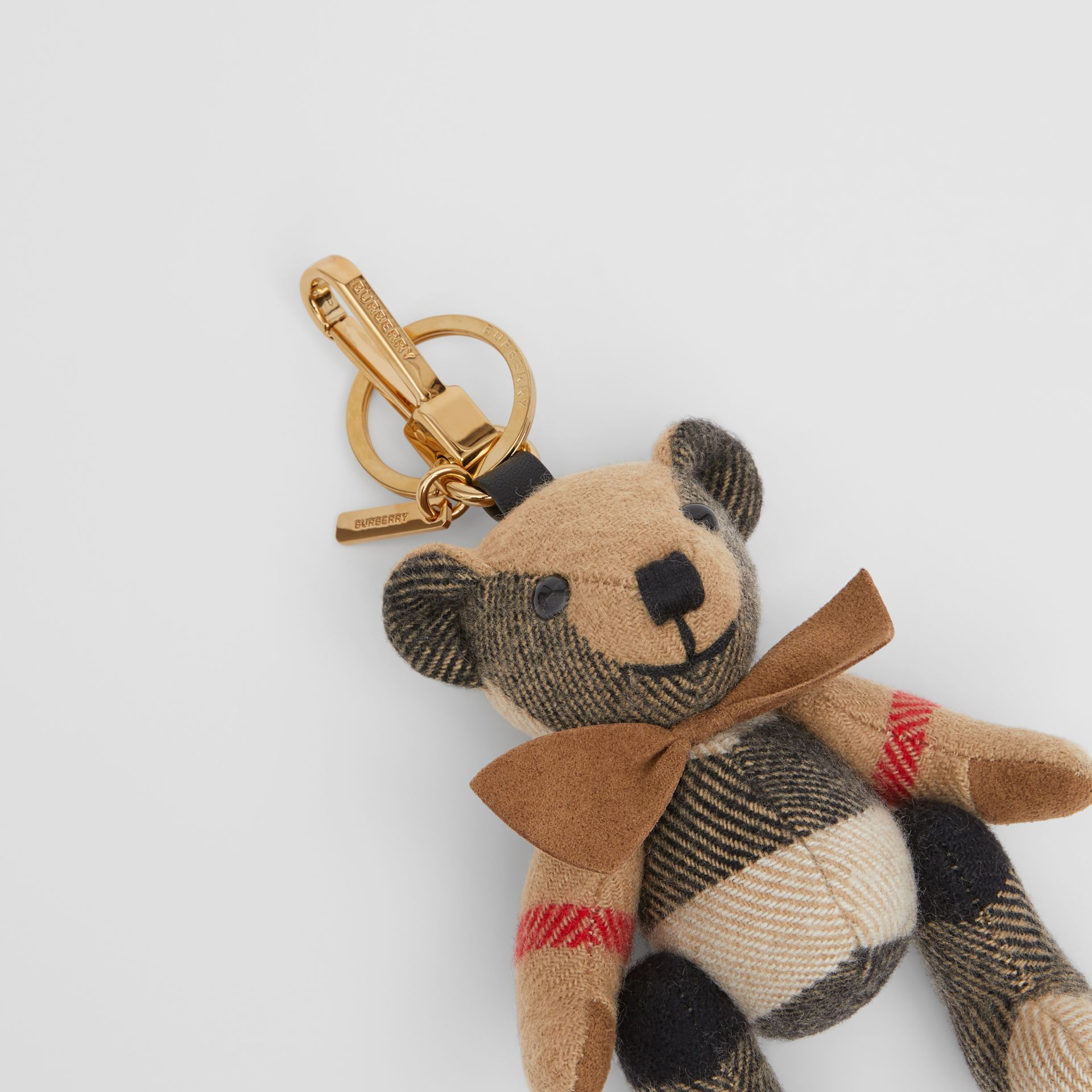 Thomas Bear Charm with Bow Tie in Archive Beige - Women   Burberry Australia - gallery image 1