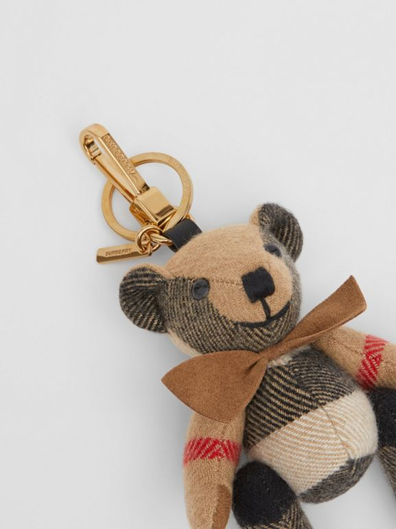 Thomas Bear Charm with Bow Tie in Archive Beige - Women   Burberry Australia - cell image 1