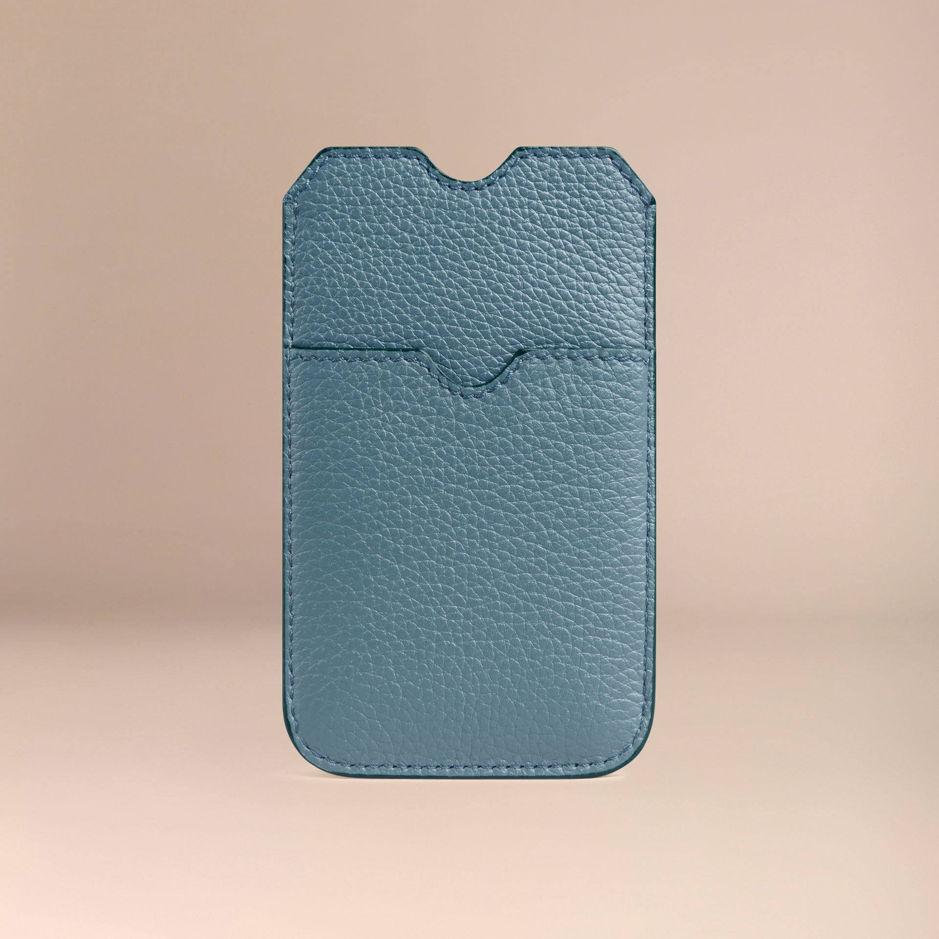 Grainy Leather iPhone 5/5S Case in Dusty Teal | Burberry - gallery image 2