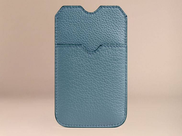 Grainy Leather iPhone 5/5S Case in Dusty Teal | Burberry - cell image 1