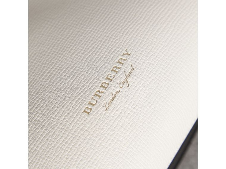 The Small Banner in Leather and House Check in Natural/black - Women | Burberry United Kingdom - cell image 1