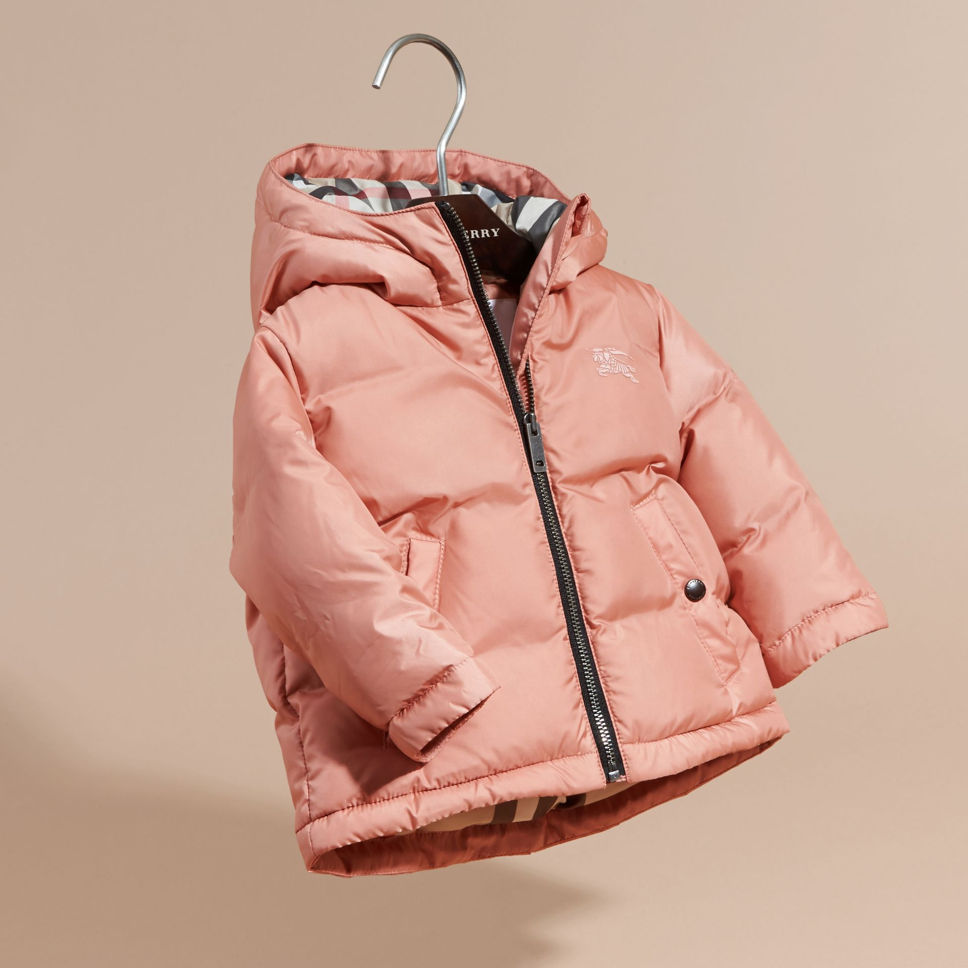 Light copper pink Reversible Puffer Coat Light Copper Pink - gallery image 3