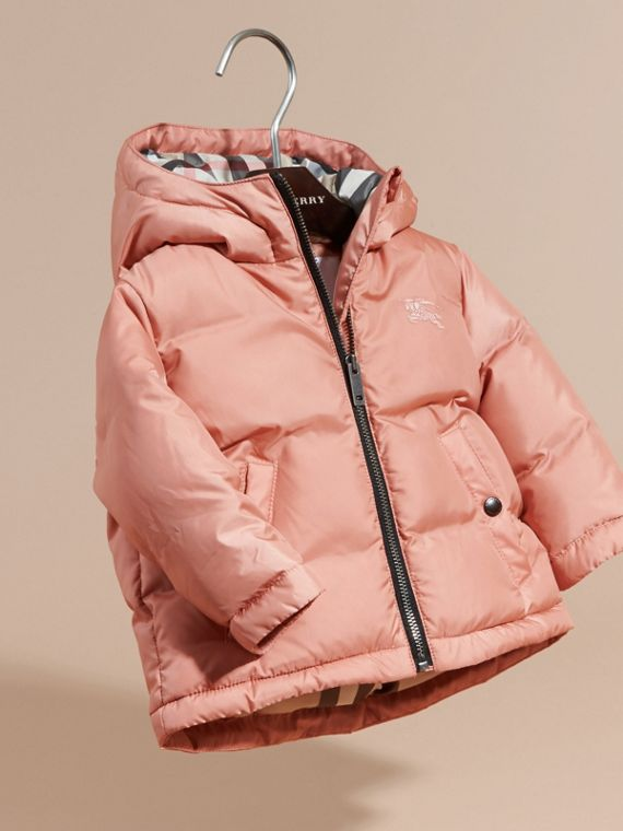Light copper pink Reversible Puffer Coat Light Copper Pink - cell image 2