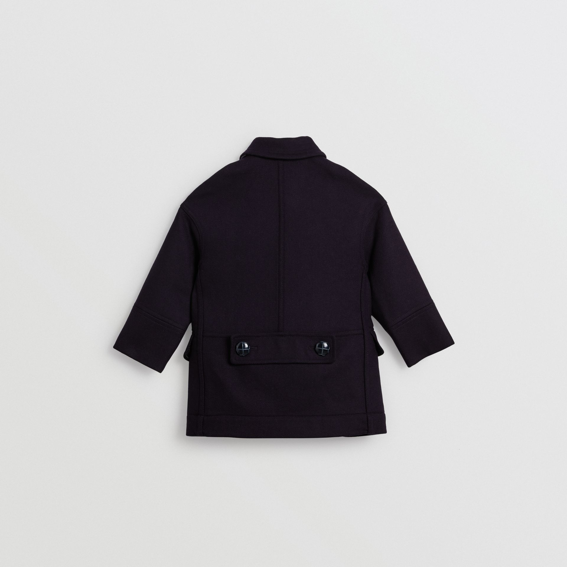Double-faced Wool Pea Coat in Navy | Burberry - gallery image 4