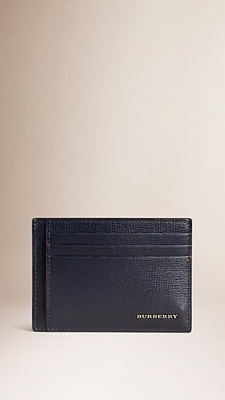 London Leather Money Clip Card Case