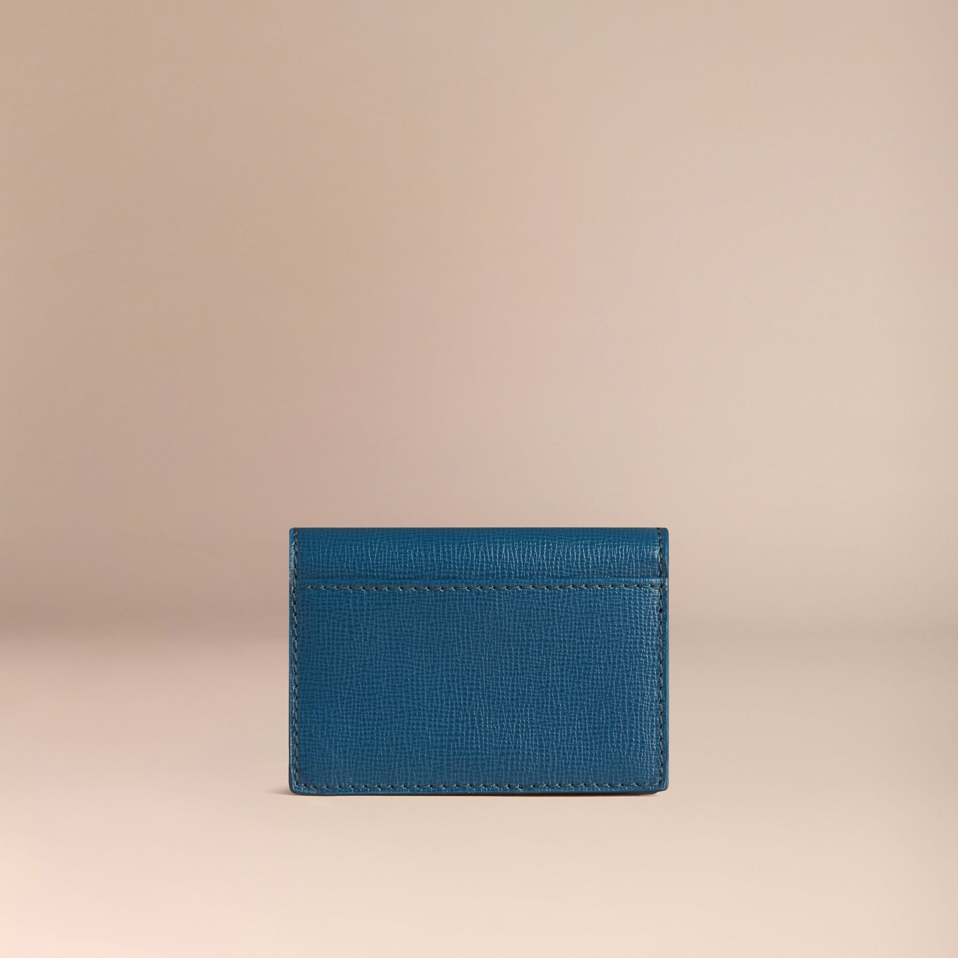 Mineral blue London Leather Folding Card Case Mineral Blue - gallery image 3