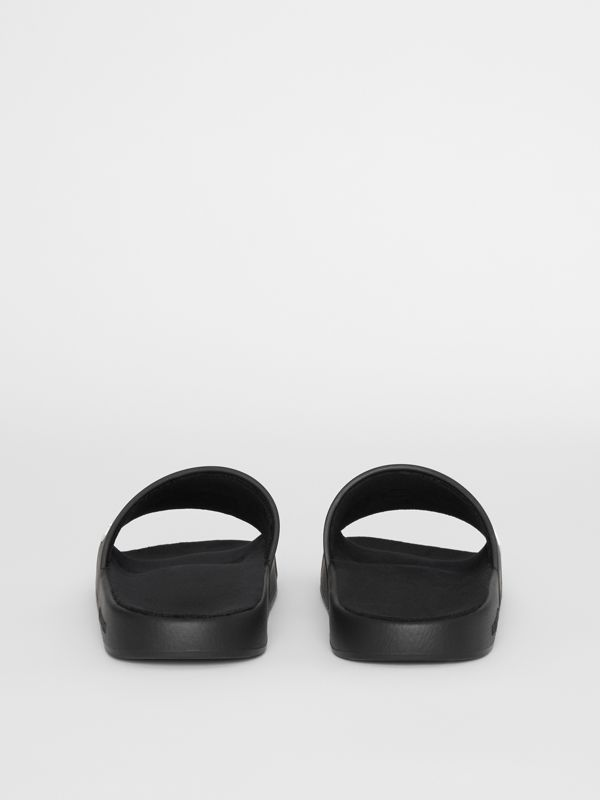 Kingdom Motif Slides in Black - Men | Burberry - cell image 3