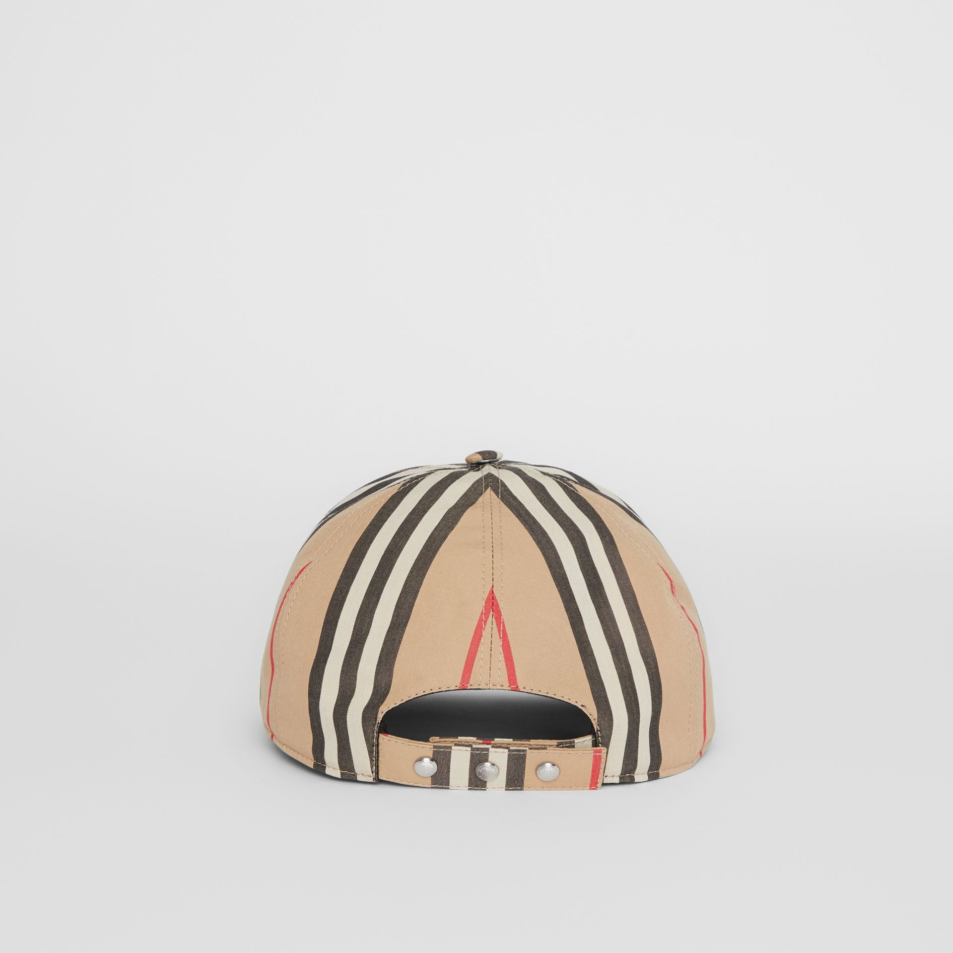 Icon Stripe Baseball Cap in Archive Beige | Burberry - gallery image 5