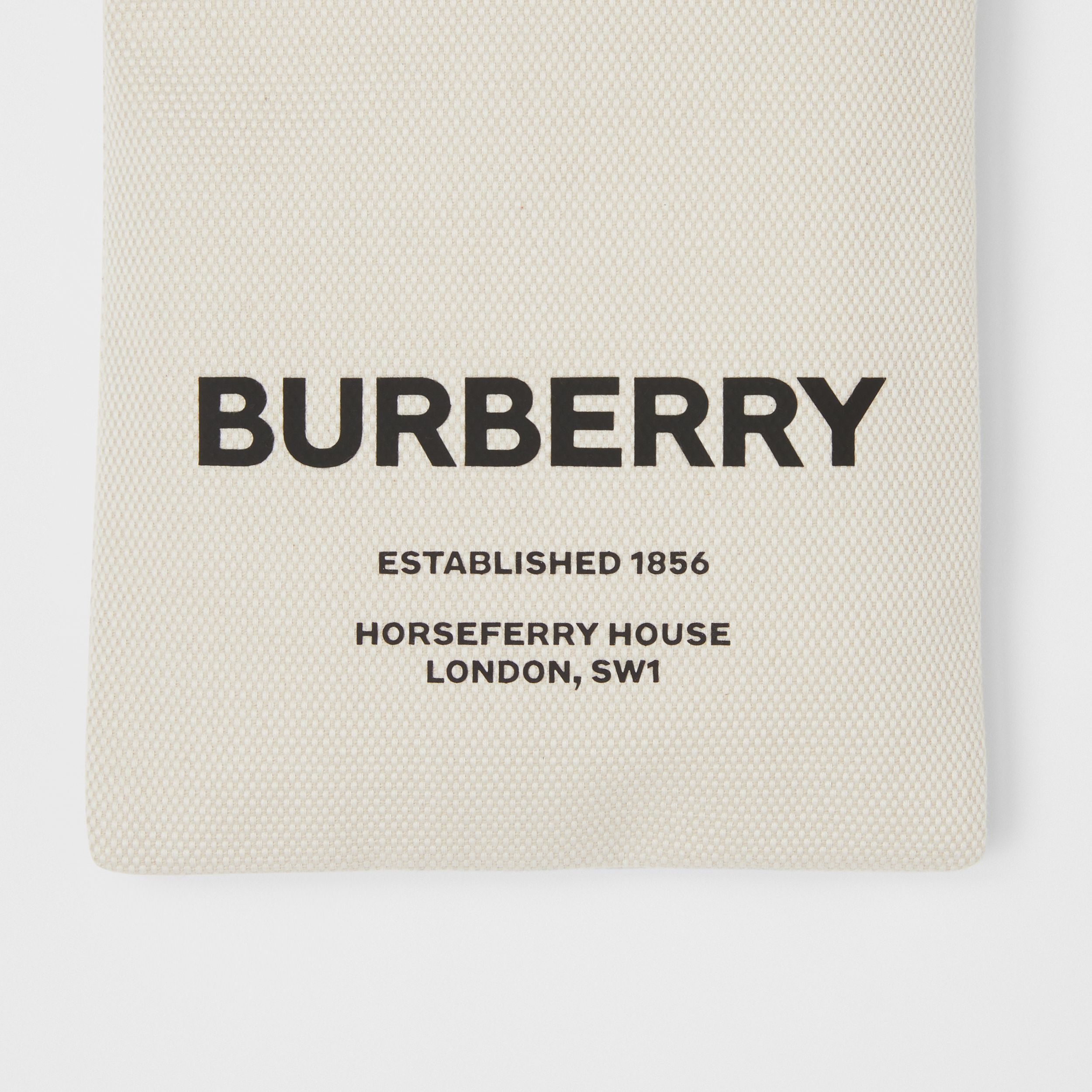 Small Horseferry Print Cotton Canvas Drawcord Pouch in Natural/tan/black - Women | Burberry - 2