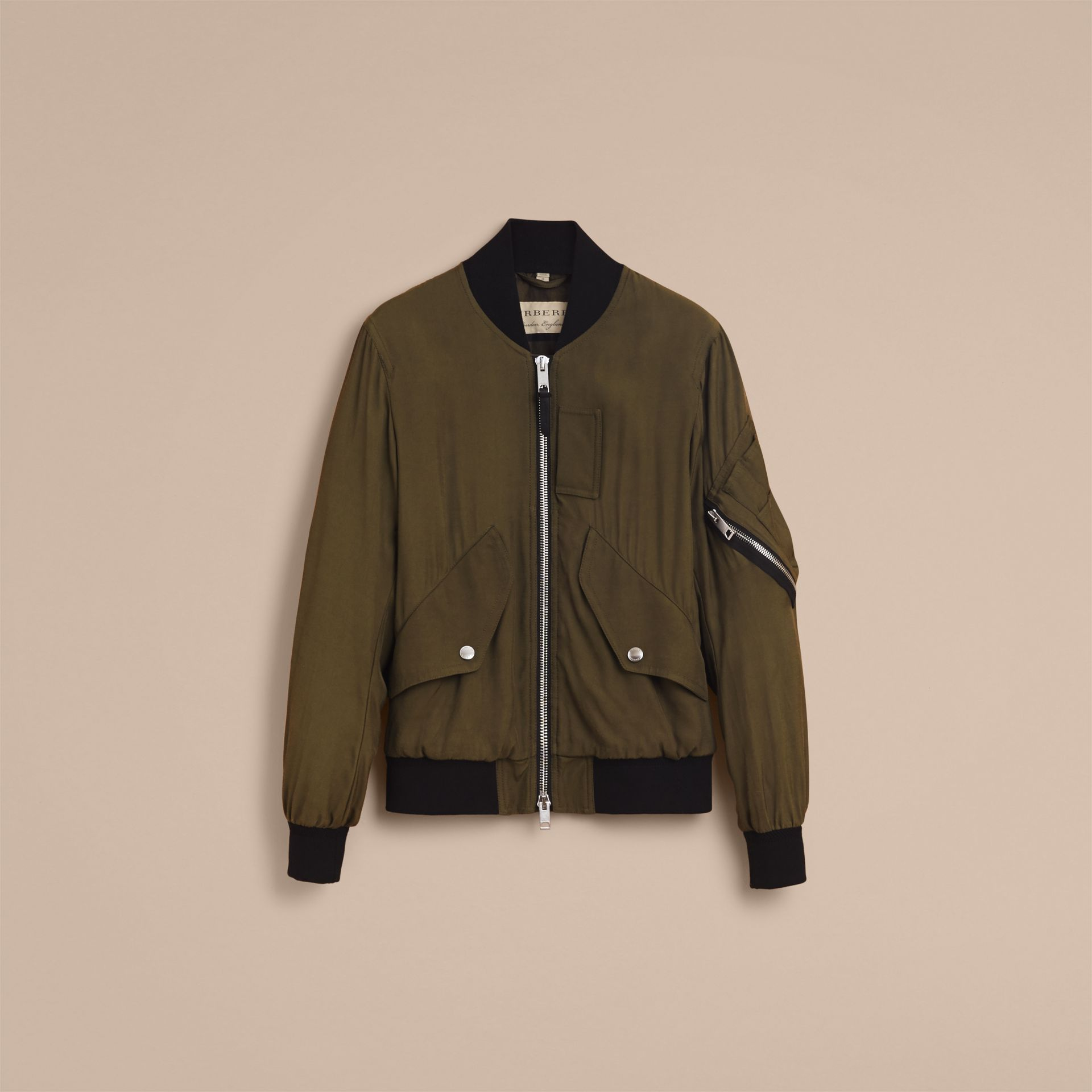 Technical Twill Bomber Jacket - Men | Burberry Australia - gallery image 4