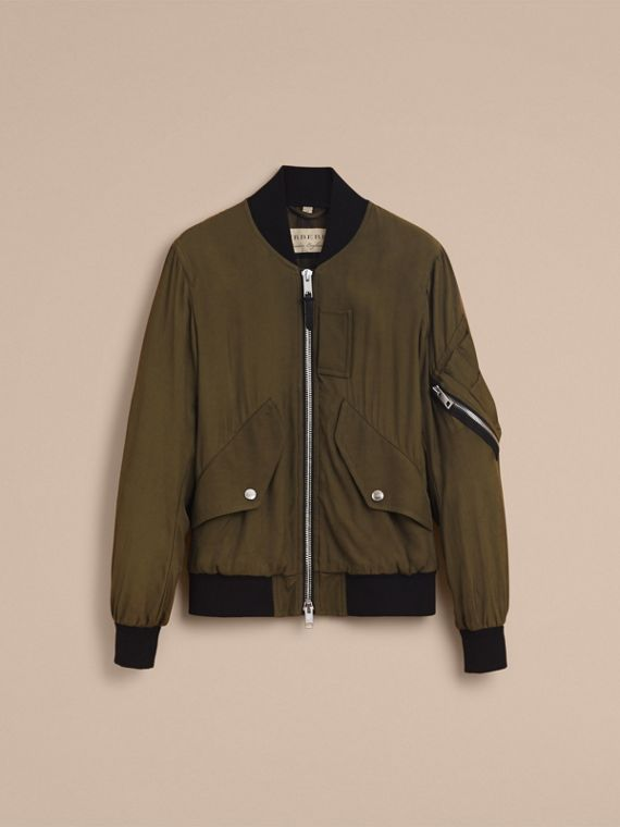 Technical Twill Bomber Jacket - Men | Burberry Australia - cell image 3