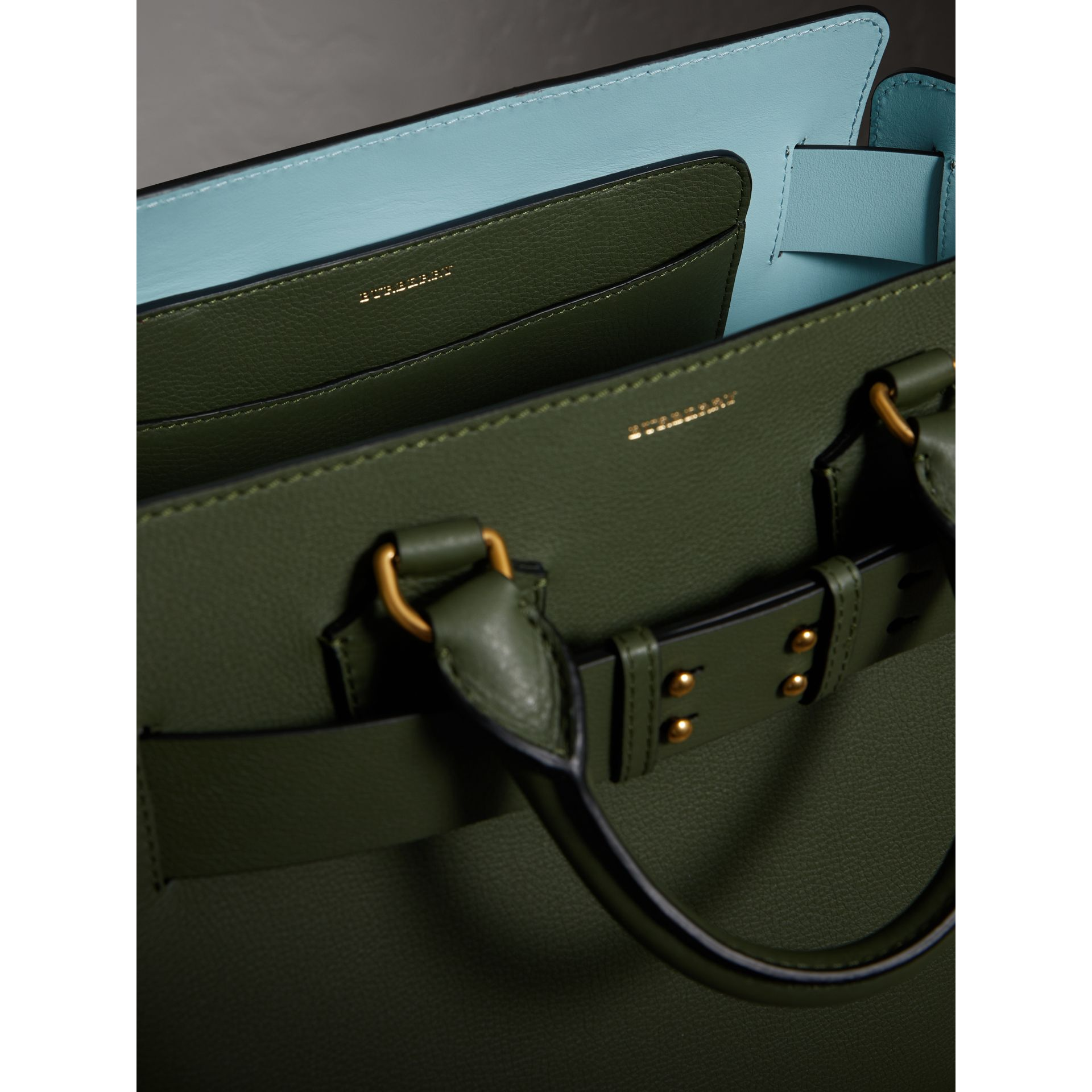 The Medium Leather Belt Bag in Sage Green - Women | Burberry - gallery image 5