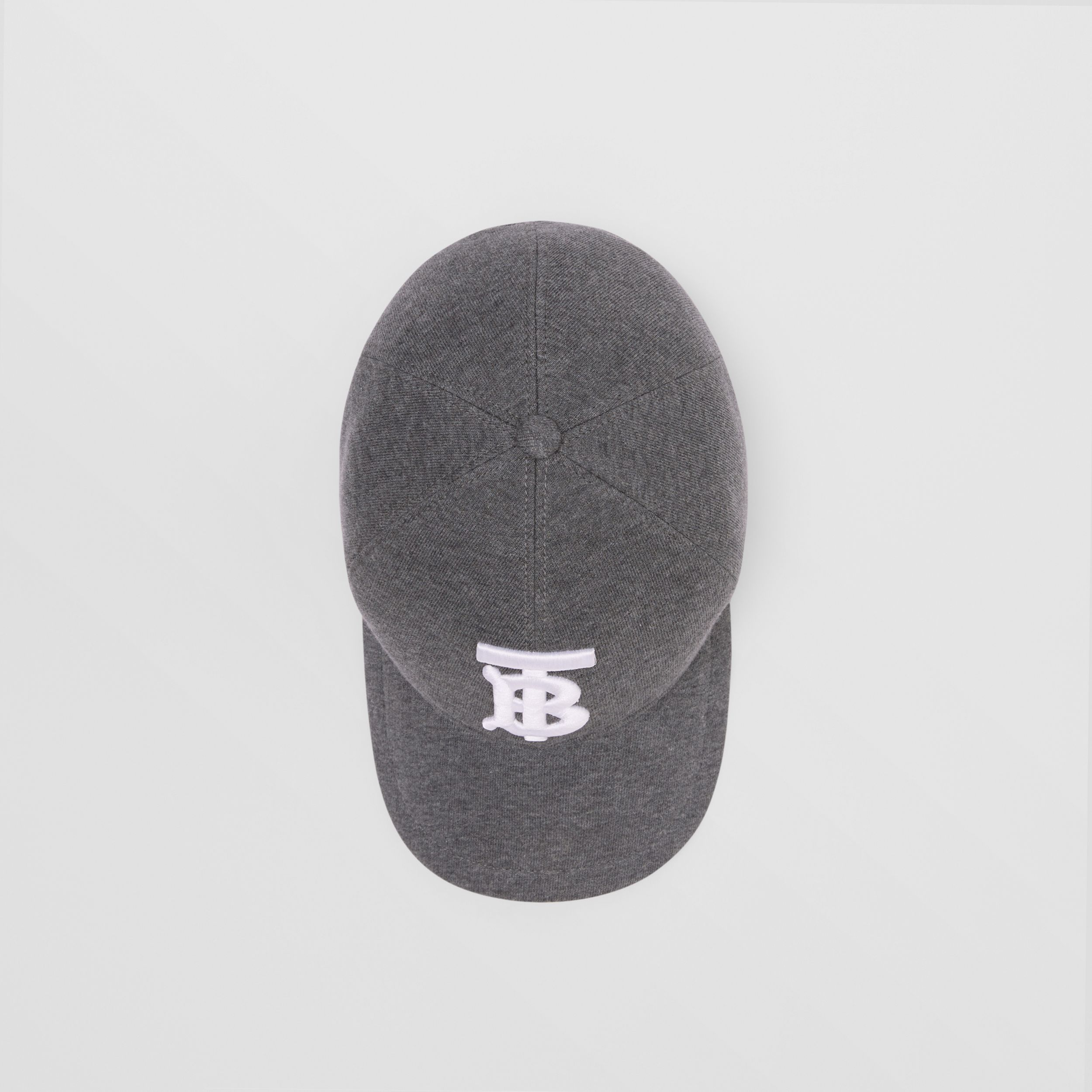 Monogram Motif Jersey Baseball Cap in Dark Charcoal | Burberry - 4