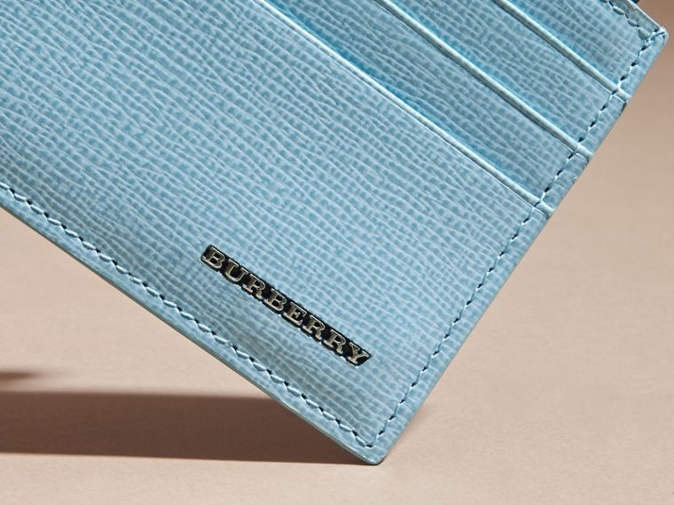 London Leather Zip-top Card Case Powder Blue - cell image 1