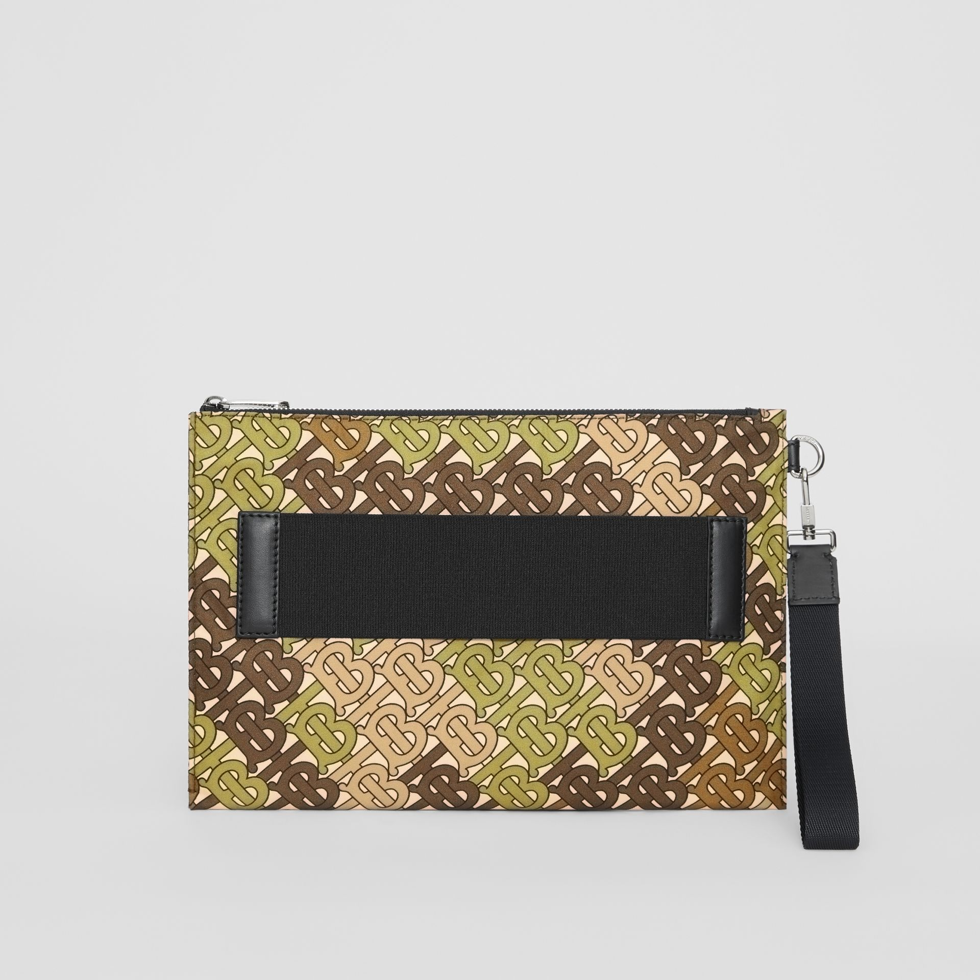 Monogram Print Zip Pouch in Khaki Green | Burberry - gallery image 3