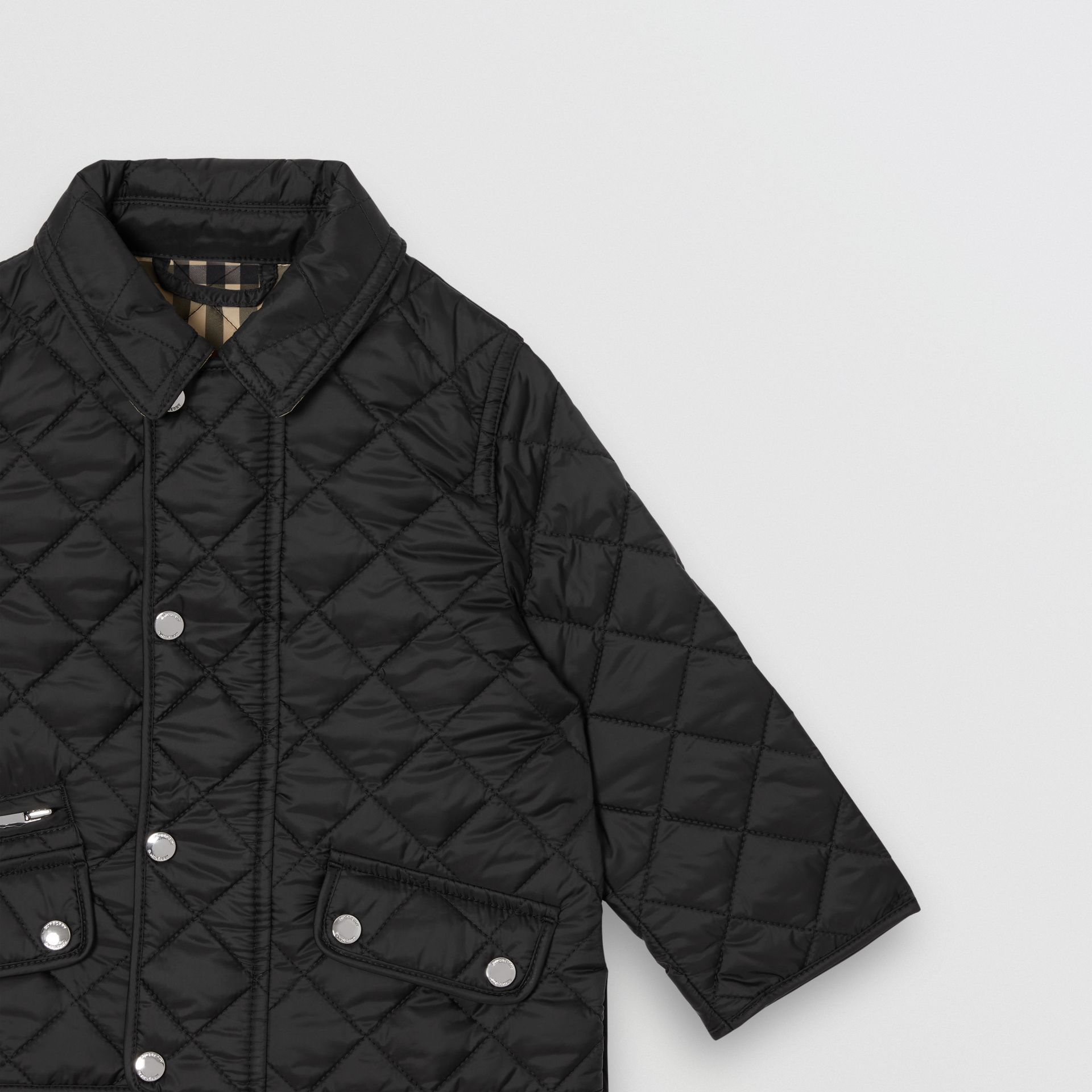 Lightweight Diamond Quilted Jacket in Black - Children | Burberry United Kingdom - gallery image 5