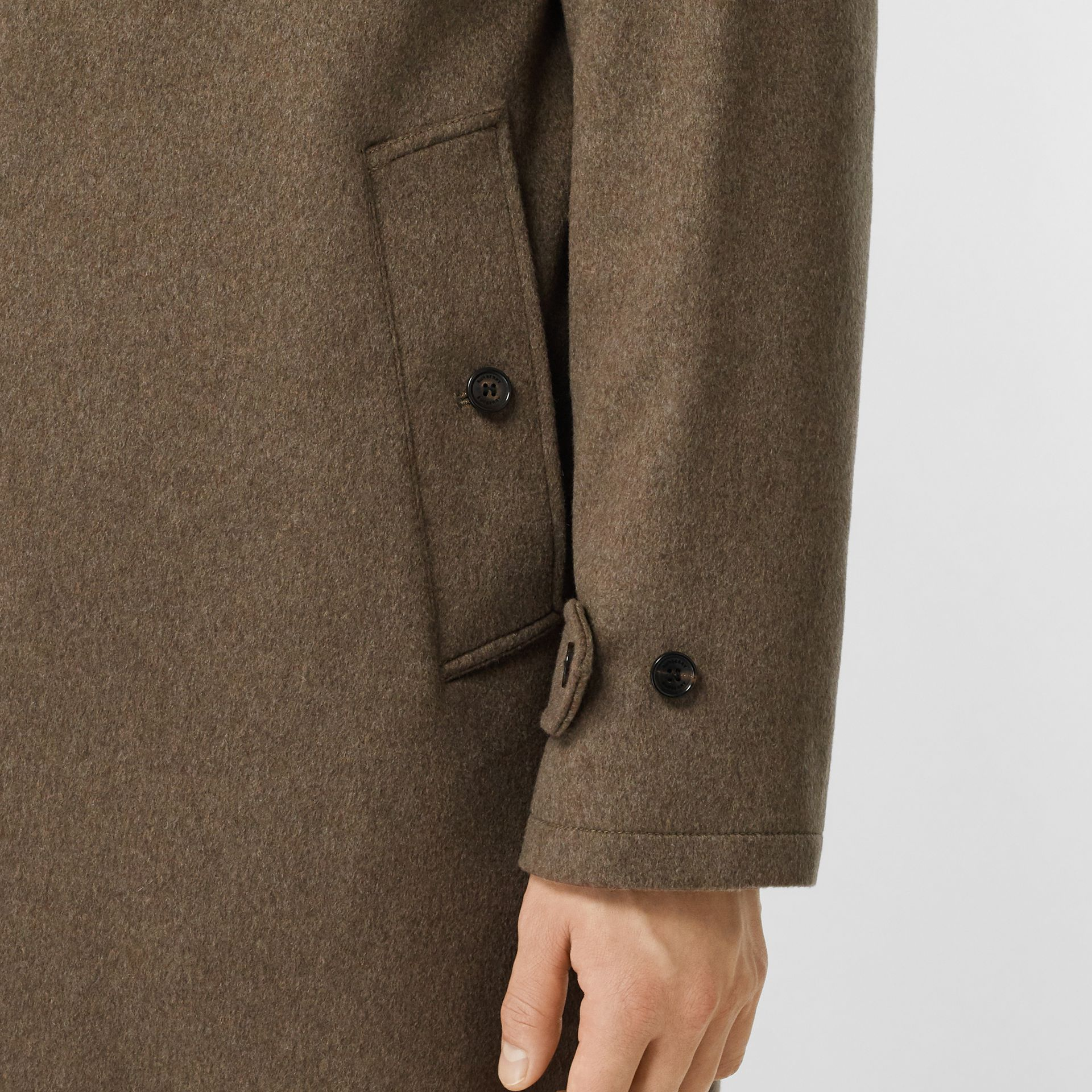 Cashmere Car Coat in Deep Taupe Melange - Men | Burberry - gallery image 5