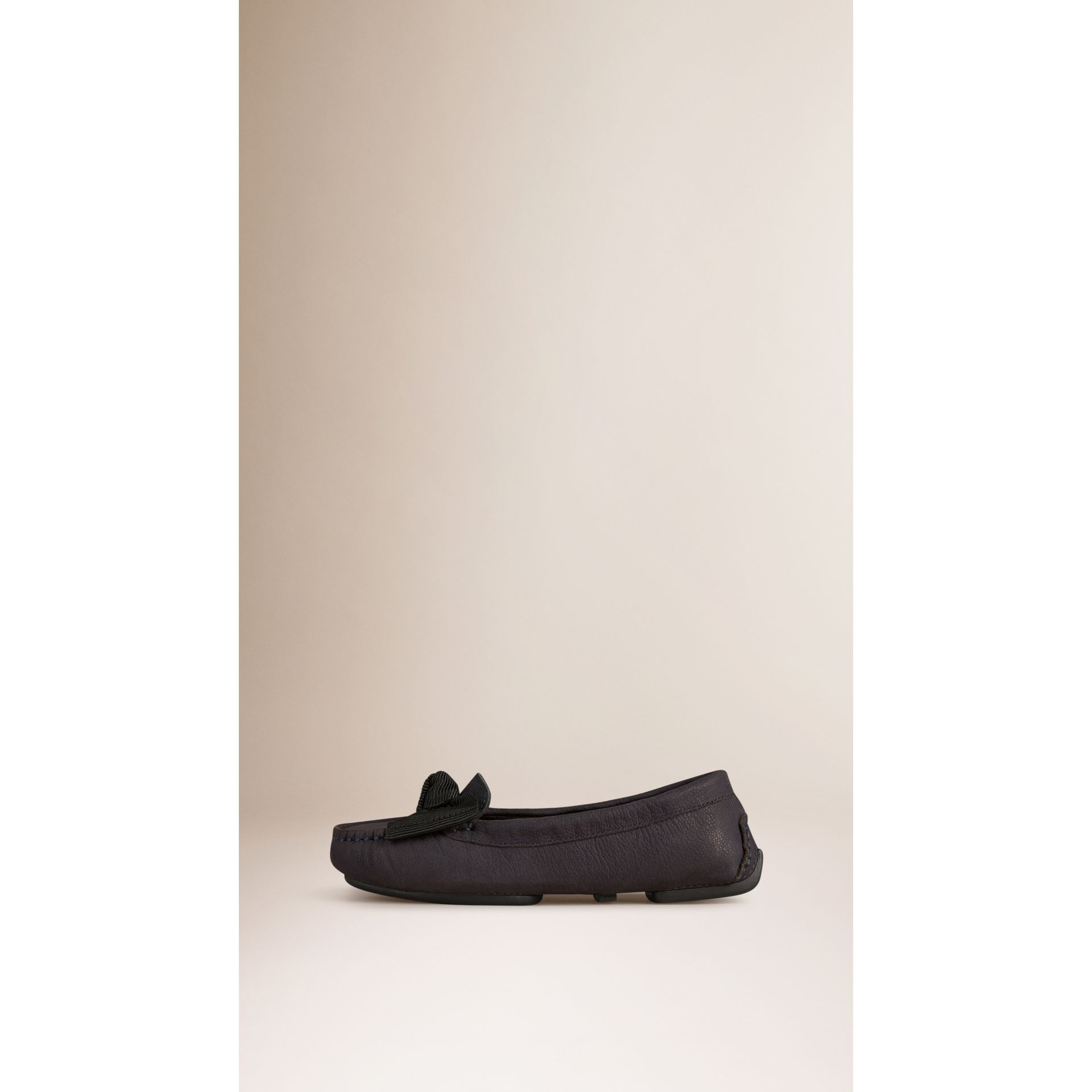 Bow Detail Nubuck Loafers - gallery image 3