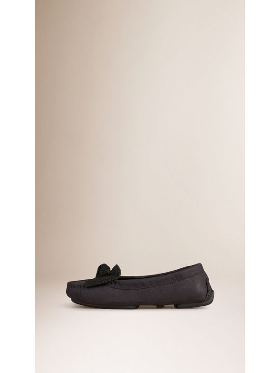 Bow Detail Nubuck Loafers - cell image 2