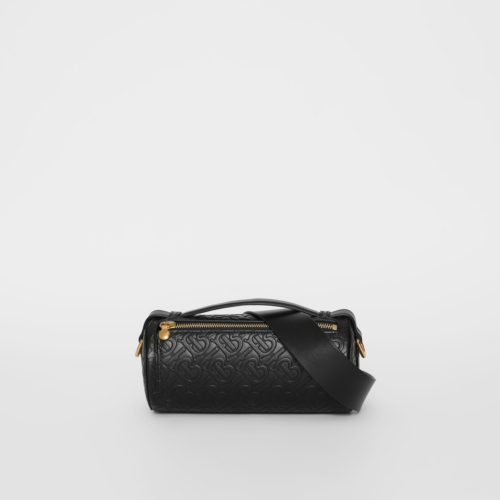 Sac The Barrel en cuir Monogram (Noir) - Femme | Burberry Canada - photo de la galerie 0