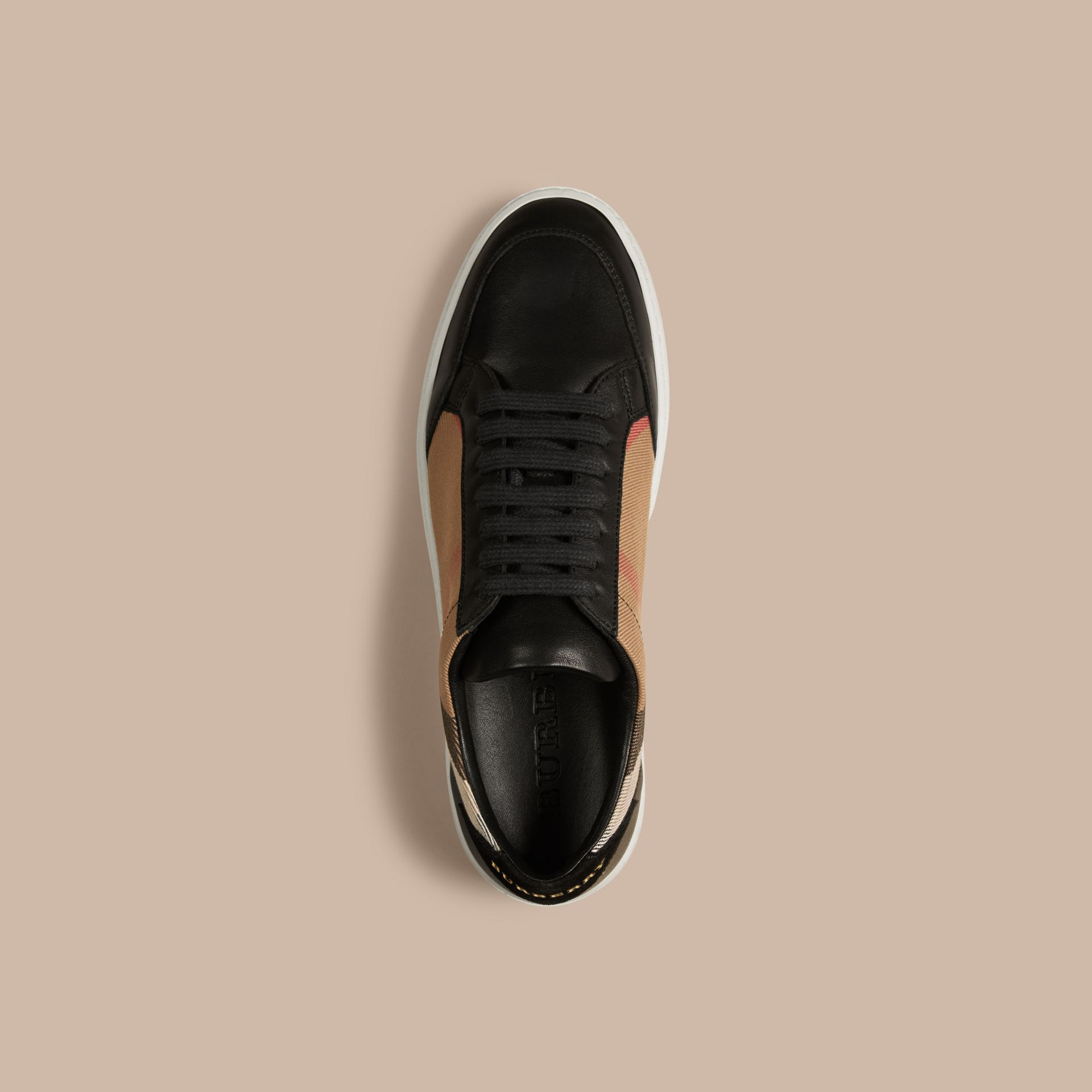House check/black House Check And Leather Sneakers Check/black - gallery image 3
