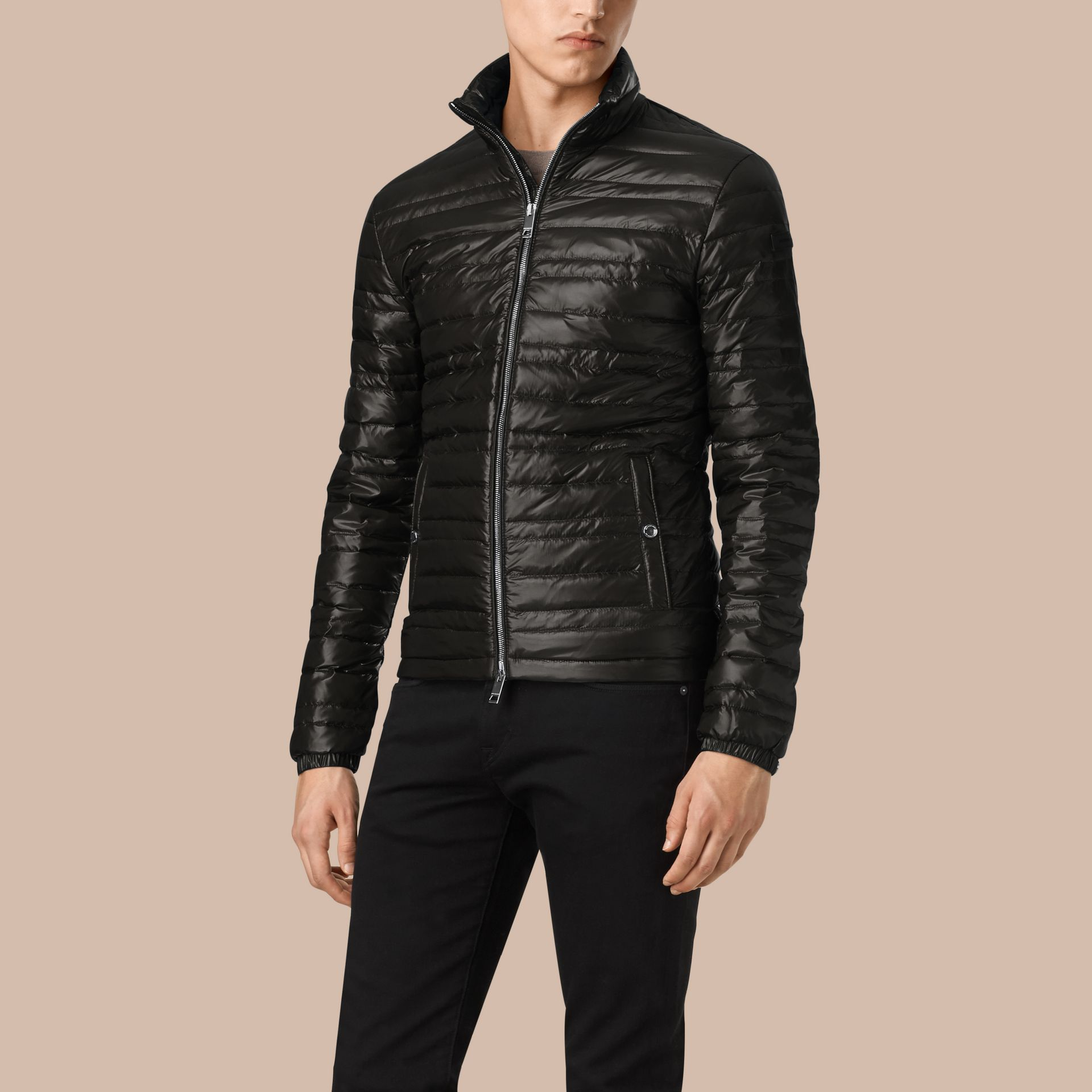 Lightweight Down-filled Jacket in Black - gallery image 5