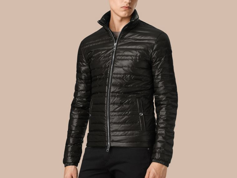 Lightweight Down-filled Jacket in Black - cell image 4