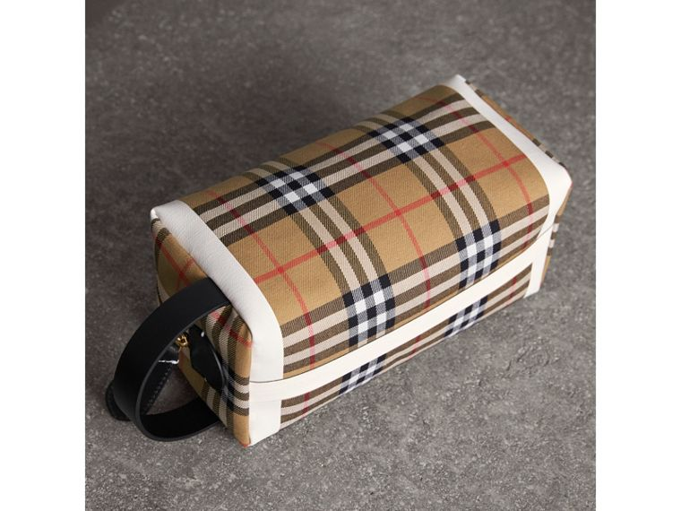 Beauty case in cotone con motivo tartan e Vintage check (Giallo Antico/giallo Ocra) | Burberry - cell image 4