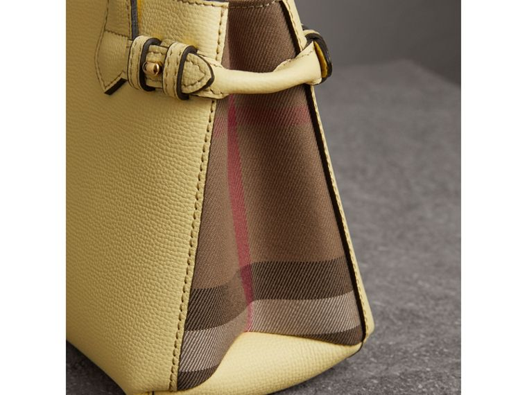 The Baby Banner in Leather and House Check in Camomile Yellow - Women | Burberry - cell image 1