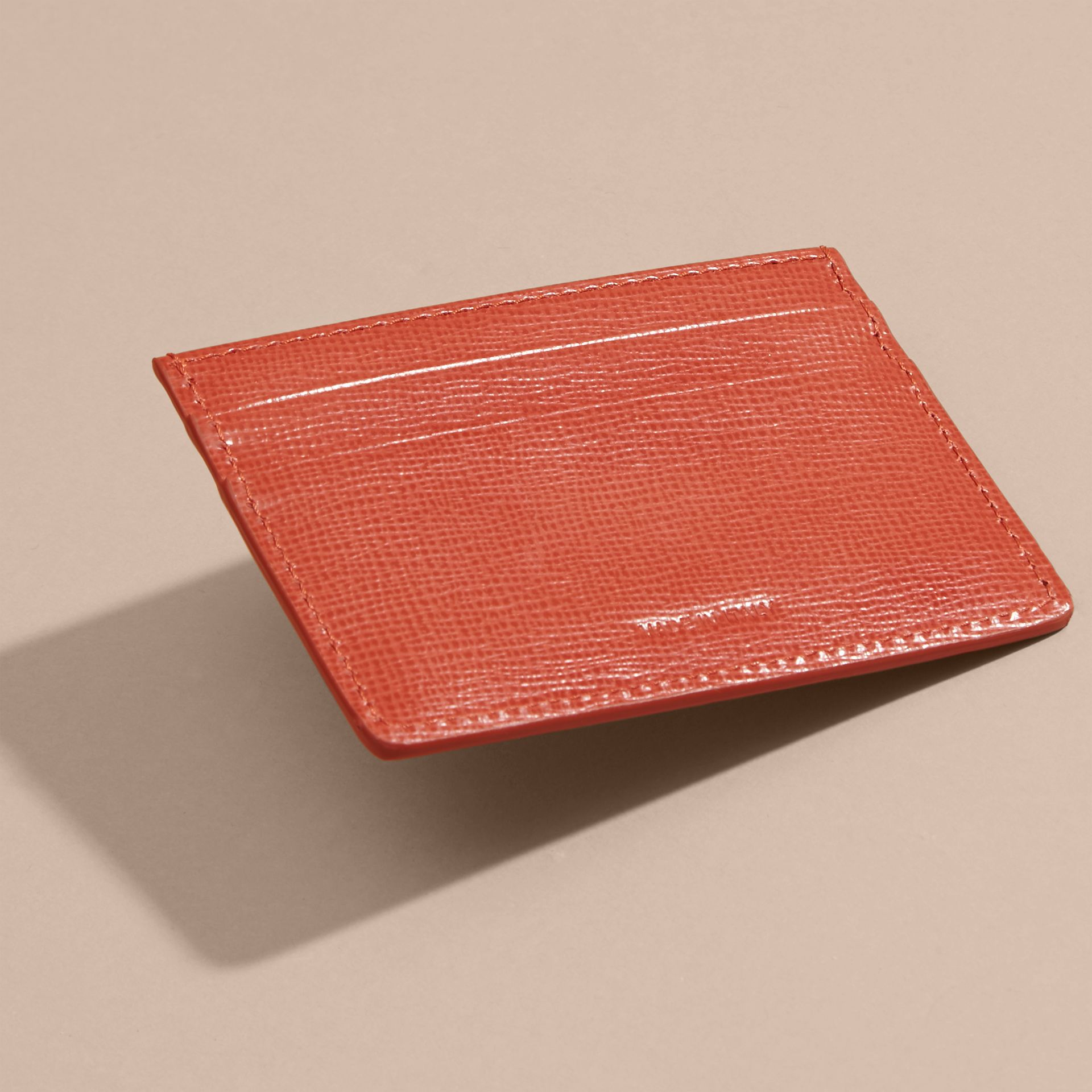 London Leather Card Case Burnt Sienna - gallery image 3