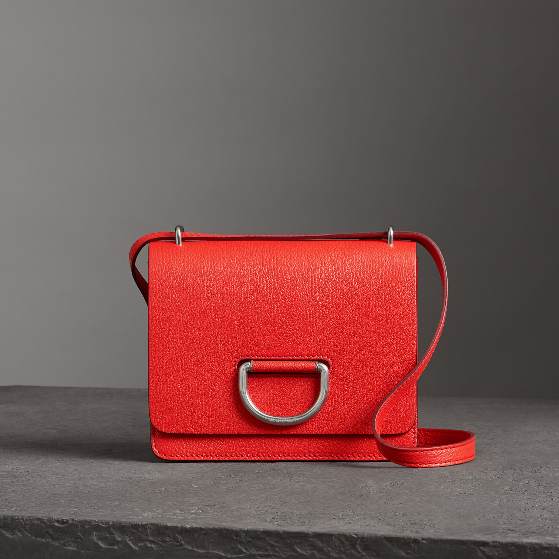 The Small Leather D-ring Bag in Bright Red - Women | Burberry - gallery image 0