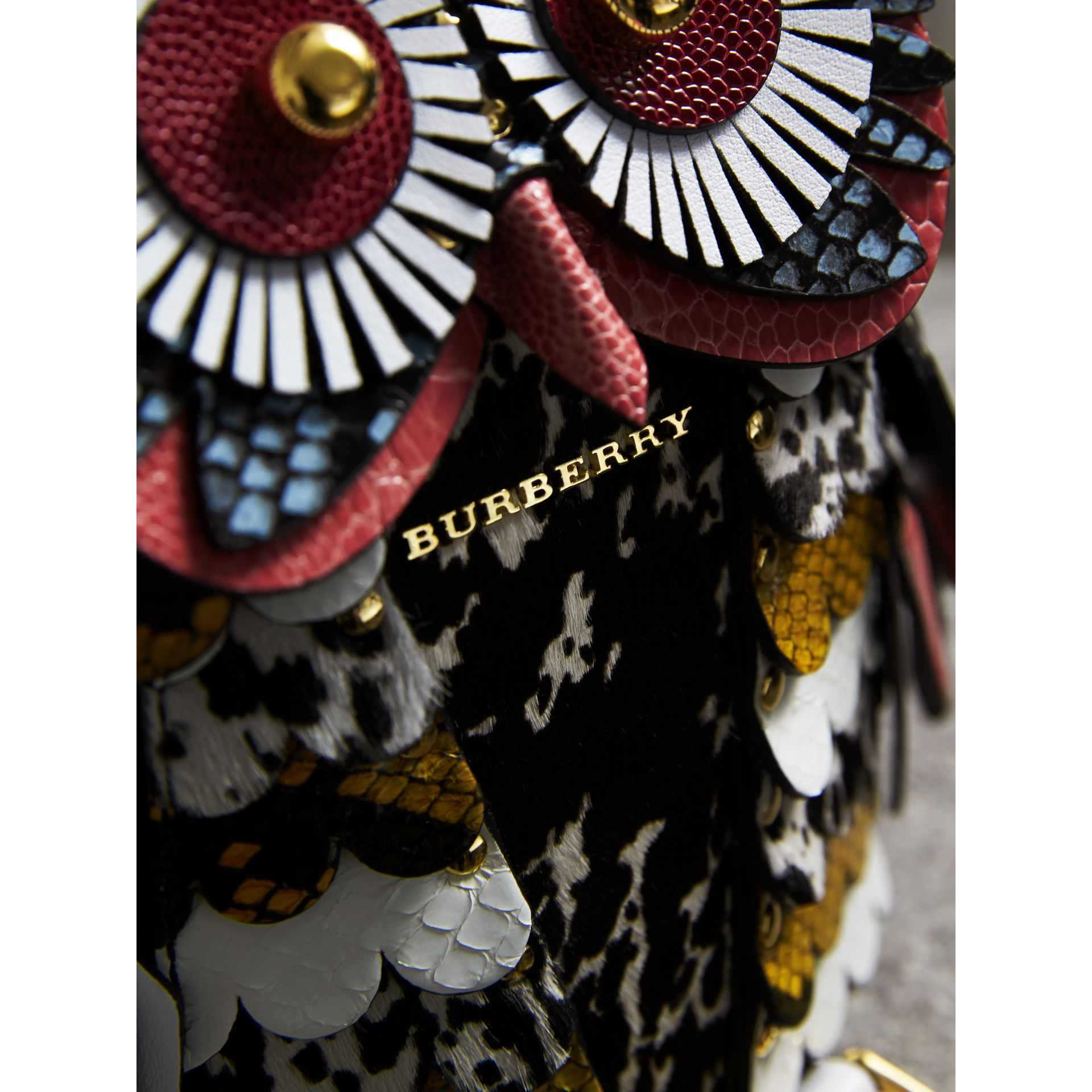 The Owl – Calf Suede and Calf Hair Crossbody Bag in Black/white - Women | Burberry United States - gallery image 2