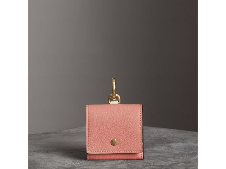 Small Square Leather Coin Case Charm in Dusty Rose/limestone - Women | Burberry United States - cell image 4