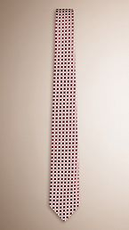 Modern Cut Abstract Pattern Silk Tie