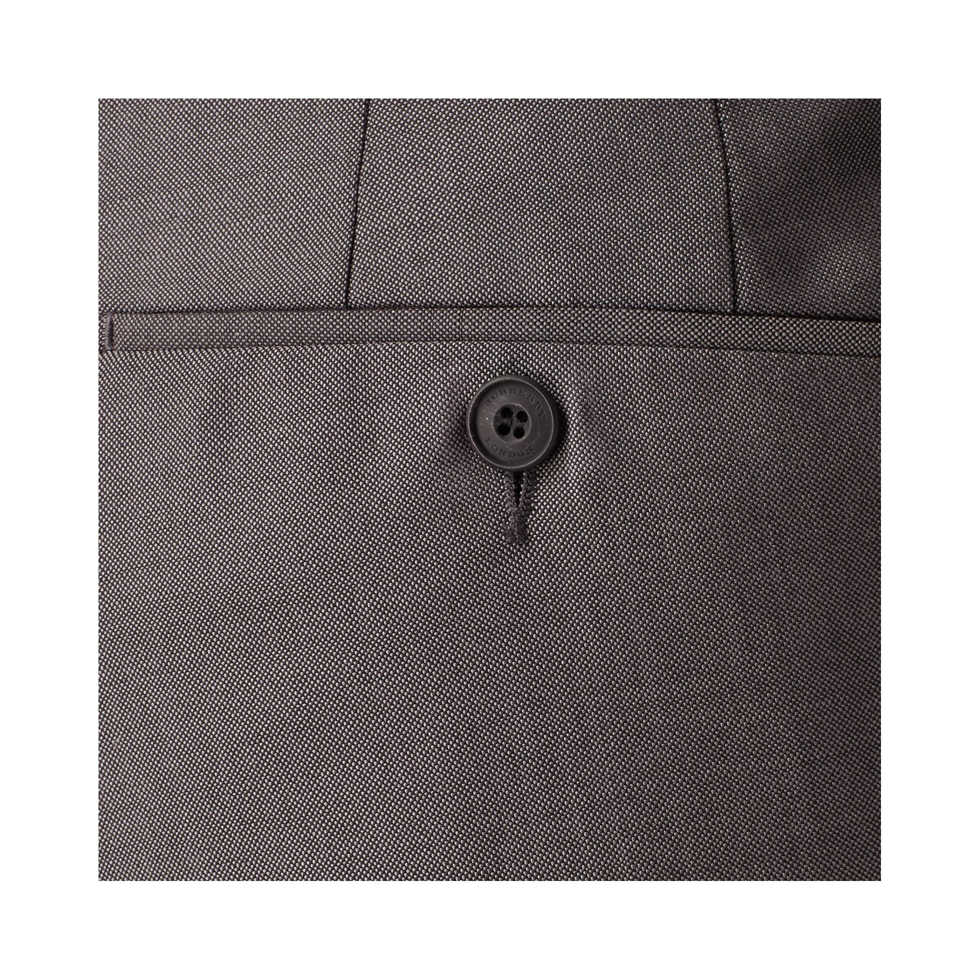 Mid grey Slim Fit Wool Mohair Trousers Mid Grey - gallery image 2