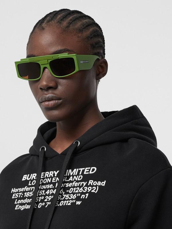 Rectangular Frame Sunglasses in Green - Women | Burberry - cell image 2