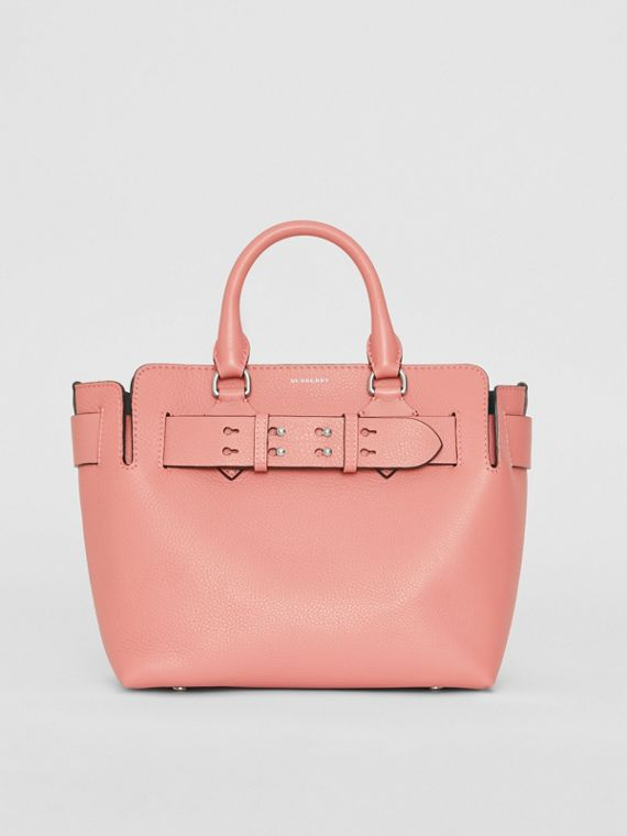 Borsa The Belt piccola in pelle (Rosa Polvere)