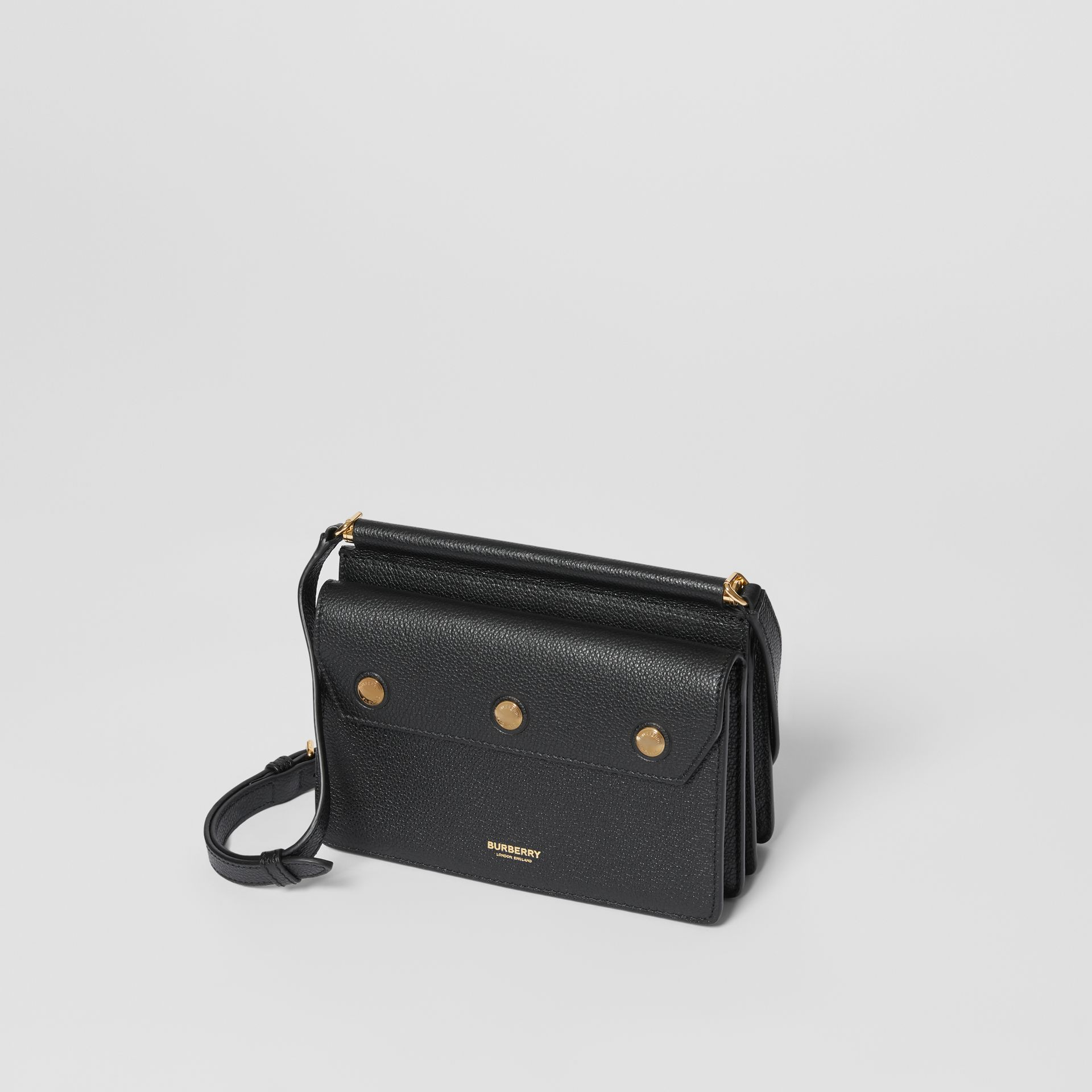 Mini Leather Title Bag with Pocket Detail in Black - Women | Burberry - gallery image 3