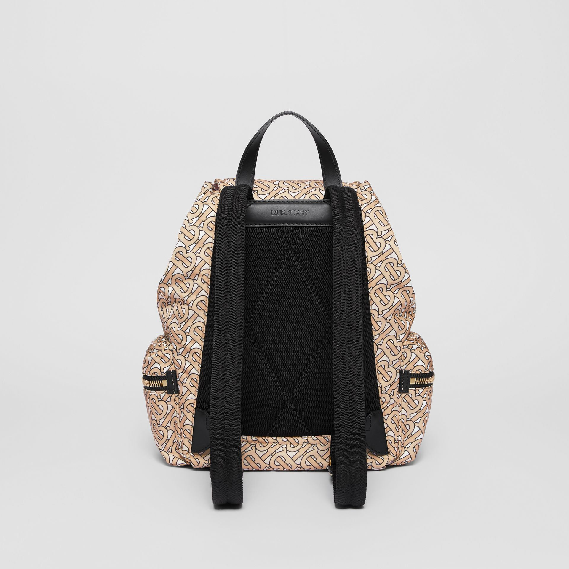 The Medium Rucksack in Monogram Print Nylon in Beige - Women | Burberry Australia - gallery image 7