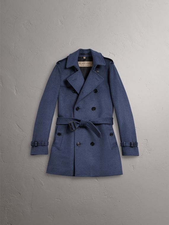 Wool Cashmere Trench Coat in Dark Canvas Blue - Men | Burberry Singapore - cell image 3